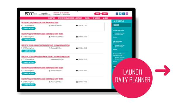 graphic regarding Dailyplanner titled Each day Planner ECOC